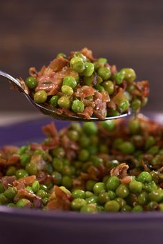 Peas with prosciutto: As simple as it sounds.