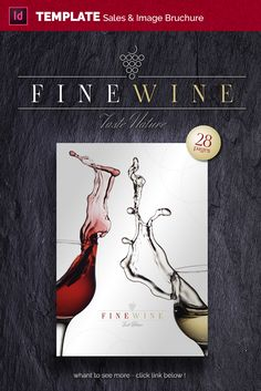 FINE WINE - Sales & Image Brochure - 28 pages template Just fill in your text and your pictures and you are ready to go. Invitation Mockup, Invitations, Page Template, Templates, Button Decorations, Wine Sale, Sales Image, Website Layout, Photo Link