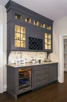 ideas for stunning corner bar furniture for coffee and wine venues – Kitchen Pantry Cabinets Designs Kitchen Pantry, New Kitchen, Kitchen Decor, Kitchen Wet Bar, Kitchen Bars, Kitchen Island, Wine Cabinets, Kitchen Cabinets, Cabinets In Dining Room