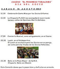 31/08 Dia del Socio. Quintana Martin Galindez A partir de las 12:30 Las Merindades