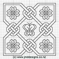 Celtic Biscornu | Found on jmddesigns.co.nz