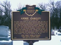 Brock, OH (Darke County) - The reverse side of Ohio Historical Marker #7 - 19 at Annie Oakley's grave.