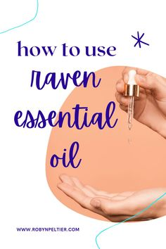 Raven essential oil is amazing for your respiratory system. Lean all its benefits and how to use it on this post. It's super helpful. #aromatherapy #essentialoils #respiratory Raven Essential Oil, Natural Essential Oils, Young Living Essential Oils, Natural Oils, Ravintsara, Respiratory System, Starter Kit, Being Used, Aromatherapy