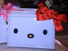 Hello Kitty Frame Decor & Free Printable! {This would be cute as a thank you card as well ~mrm}