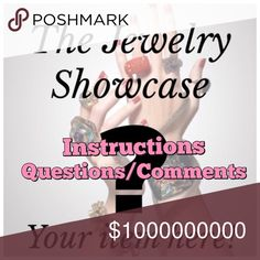 THE JEWELRY SHOWCASE INSTRUCTIONS The Jewelry Showcase is a platform to give recognition and extra exposure and shares to an item in a Jewelry Share Group (JSG) participant's closet to GET IT SOLD!  WHAT ITEM IS SHOWCASED? You choose! POSTED HOW LONG? 3 days! HOW TO BE CONSIDERED? Tag your name on the The Jewelry Showcase listing in numerical order. Ex. @jewelrysharegrp #1 QUESTIONS? Comment below! The Jewelry Showcase Jewelry