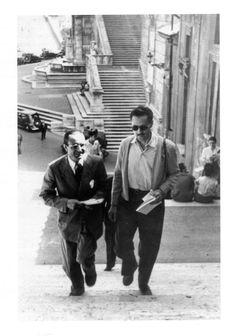 Ignazio Gardella e Franco Albini a passeggio per Roma, 1949