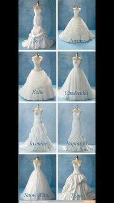 Disney Princess wedding dresses. I've always loved Belle, so it figures the Belle dress is my favorite.