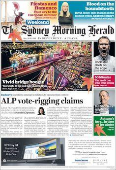 #20160528 #AUSTRALIA #AustraliaTodayNEWSpapers20160528 Saturday MAY 28 2016 http://en.kiosko.net/au/2016-05-28/ <+> #SYDNEY #TheSydneyMorningHeraldWEEKEND20160528 #SMH http://en.kiosko.net/au/2016-05-28/np/sydney_morning_herald.html