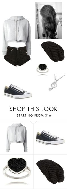 """Untitled -59-"" by heaven-cedeno ❤ liked on Polyvore featuring Yves Saint Laurent, Converse, Finesque, Tarnish and MaBelle"
