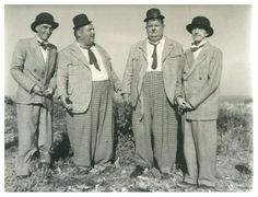 Laurel and Hardy stunt doubles.