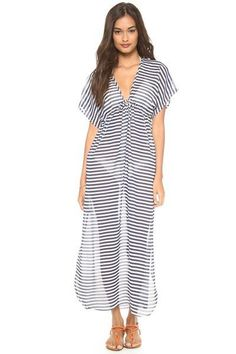 ad76414337 Rustic Thin Stripe Cover Up Dress