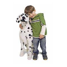 Mega knuffel hond dalmatier. Extra grote knuffel hond in de vorm van een zittende dalmatier. Deze pluche hond is ongeveer 76 x 81 x 35 cm groot.