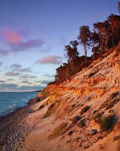 Baltic Sea cliffs Poland