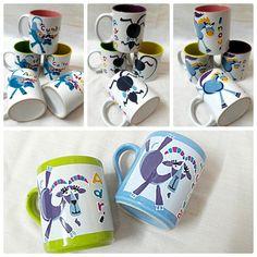 Fun n fancy shio on Mug by meerakatja glass art painting