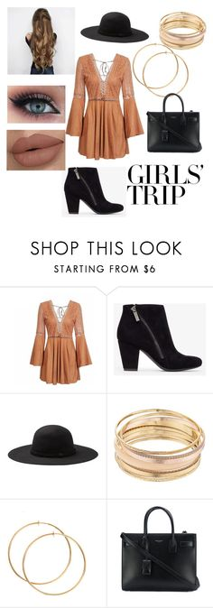 """Untitled #76"" by allycat89 ❤ liked on Polyvore featuring Mudd, Yves Saint Laurent, girlstrip and WineTastingOutfit"