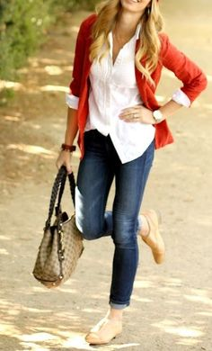 Skinnies, cardigan, button up shirt