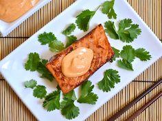 teriyaki salmon with sriracha mayo