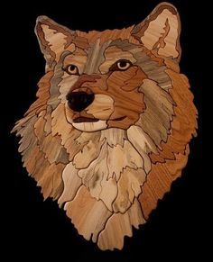 Bärchen und co Gray Alpha Male Wolf Intarsia. Intarsia Woodworking, Woodworking Patterns, Woodworking Techniques, Woodworking Projects, Stained Glass Patterns, Stained Glass Art, Intarsia Wood Patterns, Dragon Pattern, Scroll Saw Patterns