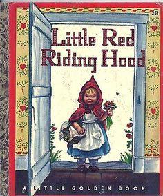 VINTAGE 1940's Children's Little Golden Book~LITTLE RED RIDING HOOD