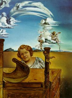 Salvador Dali >> Melancholy, 1942  |  (Oil, artwork, reproduction, copy, painting).