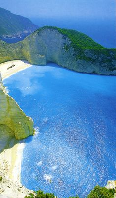 Shipwreck at Zante I swam off a boat on a trip here to this beautiful beach