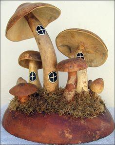Fairy Mushroom Houses