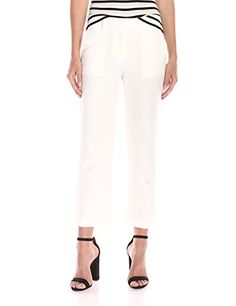 Theory Women's Lavin Prospective Pant, Off White, 0- #fashion #Apparel find more at lowpricebooks.co - #fashion