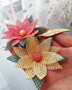 Needle Lace, Filet Crochet, Diy Flowers, Diy And Crafts, Crochet Earrings, Embroidery, Beads, Antiques, Jewelry