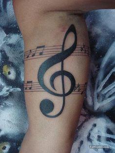 Treble Clef Notes Tattoo