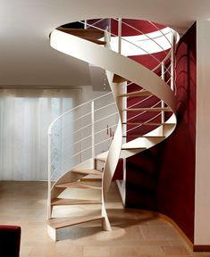 Awesome 47 Modern Spiral Stairs Design Ideas That Will Make Amazed. Spiral Stairs Design, Staircase Railing Design, Staircase Ideas, Staircase Pictures, Modern Interior, Interior Architecture, Interior Design, Midcentury Modern, Affordable Bedroom Sets