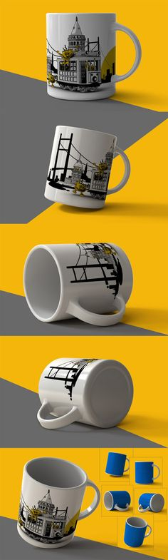 5 Mugs Mock Up » Vector, PSD Templates, Stock Images, After Effects, Fonts, Web Design, Indesign