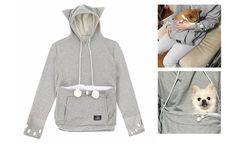 6. This hoodie is the ultimate way to cuddle your beloved kitty 🤗