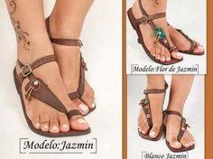 sandalias artesanales - Buscar con Google                                                                                                                                                      Más