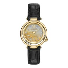 d176b8bec1b Citizen® Eco-Drive® Womens Diamond-Accent Gold-Tone and Leather Watch