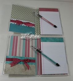 Altered DVD Cases turned into notepads. Would be great for your purse to make lists or notes.