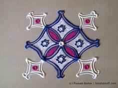 Easy and small 5 by 5 dots rangoli | Creative rangoli designs by Poonam Borkar - YouTube