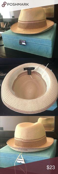 Stiff open weave brim Mexico cowboy hat 7 3 8 EUC in 2019  e716a40ff2d2