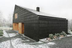 Interurban | DOM BIELSKO BIAŁA Garage Doors, Barn, Interior Design, Outdoor Decor, House, Home Decor, Beautiful Things, Nest Design, Converted Barn