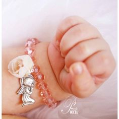 Religious baby girl Baptism bracelet - Baptism/ Maternity - Present ideas - Presents - Natural Stones Jewelry