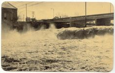 circa 1960's ... possibly spring time for that much water to be moving over the falls
