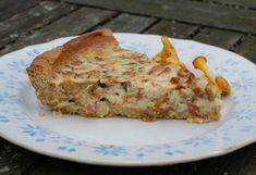 Kanttarelli-parmesaanipiirakka