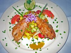 Grilled Lionfish & Tropical Fruit Salsa!!!     WLHA.org                            facebook.com/LionfishHunters
