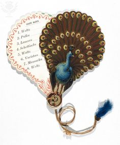 DANCE CARD, 19th CENTURY. American dance card, c1850-1860.