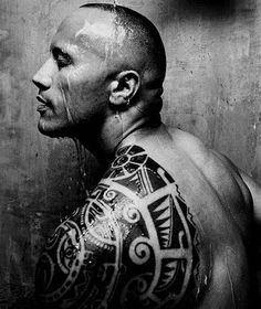 """A peek at all the fine-ness that is Dwayne """"The Rock"""" Johnson. Think how wonderful the world would be if he stayed topless at all times...Check out the generous gallery at Madame Noire."""