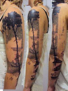 Tattoo e Arte - Xoil da Needles Side Tattoo ~ Mural Na Moda