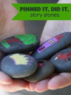 A great intro to making story stones to use to tell stories with your kids. Put this one in your back pocket for summer!