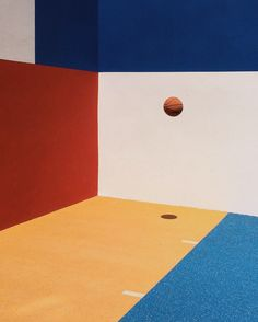 Basketball gone astray...and these beautiful bright coloured walls... Inspiration for our Sports Luxe shoot in the November 16 issue.