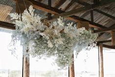 Hanging Flowers Wedding, Love Birds Wedding, Floral Wedding, Wedding Altars, Marquee Wedding, Hanging Centerpiece, Hanging Decorations, Hanging Clouds, Flower Installation