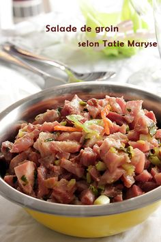 Votre salade de groin sera un délice ! West Indies, French Dishes, Caribbean Recipes, Charcuterie, Food Inspiration, Barbecue, Potato Salad, Brunch, Food And Drink