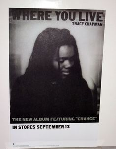 TRACY CHAPMAN US 2005 WHERE YOU LIVE PROMO POSTER